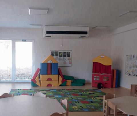 Ventilācijas iekārta bērnudārza telpās