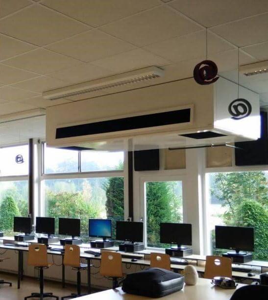 WHISPER AIR ventilācijas iekārta mācību iestādē