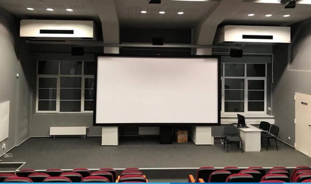 WHISPER AIR ventilācijas iekārta teātrī