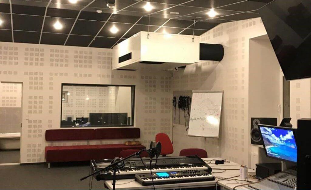 WHISPER AIR ventilācijas iekārta ierakstu studijā